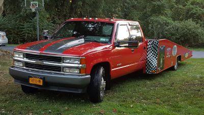 1992 Chevy crewcab car hauler Hodges flatbed