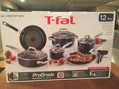 T-fal ProGrade 12 piece Premium Non-Stick cookware