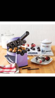 Baby cakes cake pop maker and dipping kit.