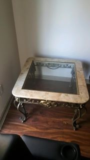 2 Glasstop End Tables