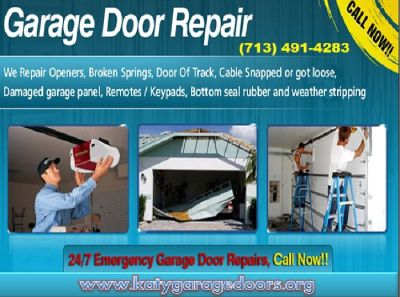 24/7 Emergency Garage Door Repair ($25.95) Katy Houston, 77450 TX