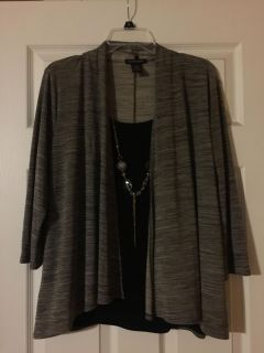 Pretty blouse with necklace. Size large $1