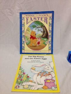Two Easter Books. Paperback. Winnie The Pooh's Easter and The Big Bunny and the Easter Eggs.