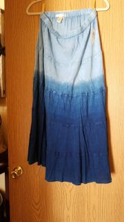 100% rayon blue ombre skirt