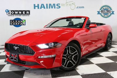 2018 Ford Mustang EcoBoost Convertible (Race Red)