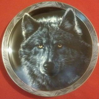 Wolf plate - Hamilton Collection