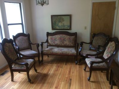 Antique Parlor Set - 5 Piece