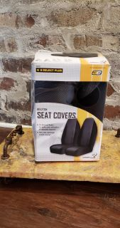 Universal Bucket Seat Covers NIB. Made by Select Plus. Can use for Built in or Adjustable Headrests.