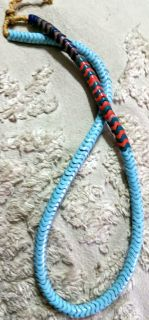 Rare African Snake Trade Bead Necklace (Robins Egg Blue)