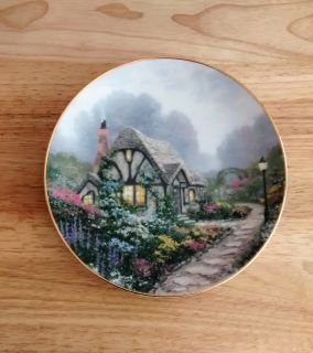 Thomas Kinkade 1991 Collector Plate Chandler s Cottage from the Knowles China Company