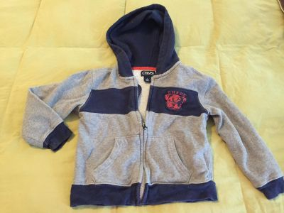 Chaps size 4t hooded jacket gray and navy