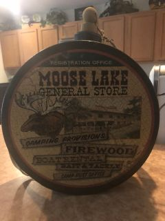 Brand new Moose canteen wall hanging.