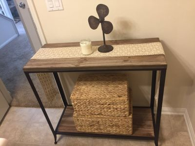 Rustic console/ entryway table