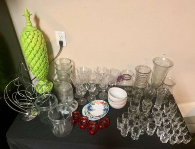 Misc glass/household items