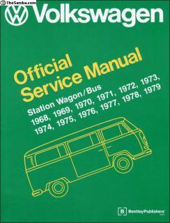 Volkswagen Repair Manual Bus 68-79