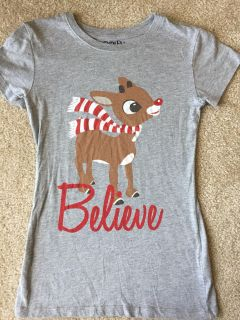 Juniors size Small Rudolf the Red nosed Reindeer! Christmas tshirt