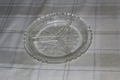 Crystal Dish with frosted fruit
