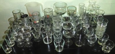 STOCK THE BAR! 53pc Beer Mugs Pitcher Wine + Assorted Barware Glasses