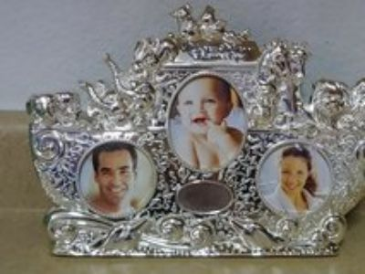 Silver Noah's Ark Picture Frame