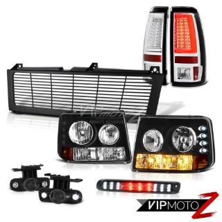 Purchase 99-02 Silverado 3500 Taillights Billet Style Grille Roof Cab Lamp Fog Lights LED motorcycle in Walnut, California, United States, for US $418.02