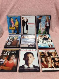 Nine DVD's. Pick up at Target in McCalla on Thursdays 5:15 to 6:00pm.