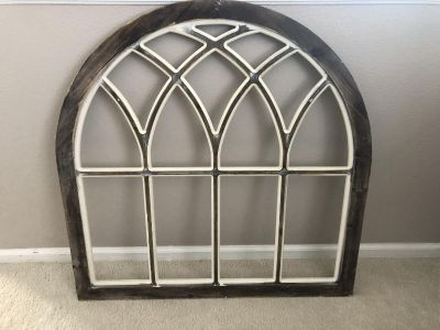 Wood Weathered Grey Arch