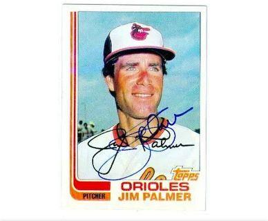 Jim Palmer 1982 Autographed Card