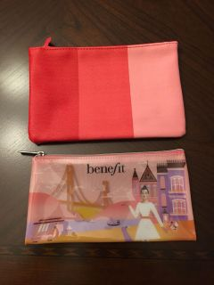 Ipsy and Benefit small make-up bags, new.