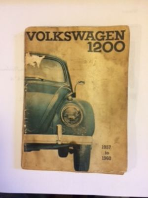 1957 to 1960 VW 1200 Owners Manual