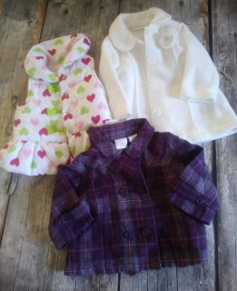 12 month fall/winter jacket lot* baby girl clothes