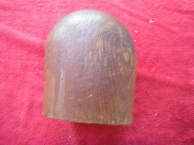 rare early antique wooden wig hat stand form or millinery block