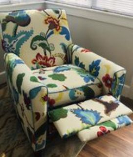 One of a kind recliner *NEW FABRIC*