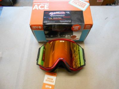 Sell Spy Ace Snowmobile Goggle Masked Red BRZw/REDSPECT+Blue 310071160379 motorcycle in North Adams, Massachusetts, United States, for US $94.95