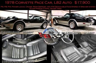 1978 Chevrolet Corvette PACE CAR ANNIVERSARY STINGRAY