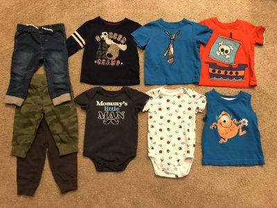 11 Piece Lot of Baby Boy Clothes