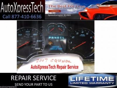 Buy 2007 Chevy Equinox Speedometer Instrument Cluster Gauge Repair Service FAST! motorcycle in Holbrook, Massachusetts, United States, for US $99.97