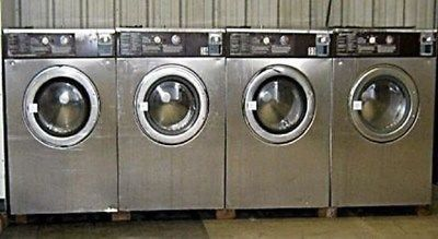 Wascomat Front Load Washer White Side/Stainless Steel W184 USED