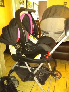 Baby car seat with stroller