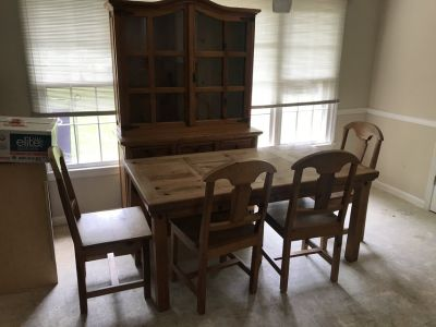 Farmhouse Table and Hutch