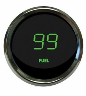 Buy Universal Digital Fuel Level Gauge Green Chrome Bezel Intellitronix MS9016-G USA motorcycle in North Olmsted, Ohio, US, for US $49.45