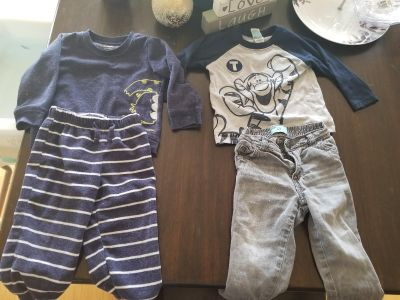 Pj set and tigger and jeans set