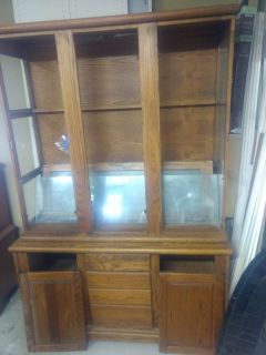 China Cabinet, solid oak