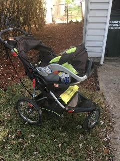 Baby Trend stroller, car seat, and base(not pictured)