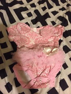 3 month onesies with ruffles