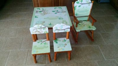 Table and Chairs Set with Rocker