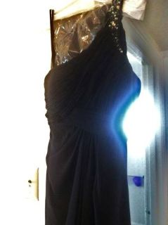 Beautiful size S black off the shoulder long ball gown