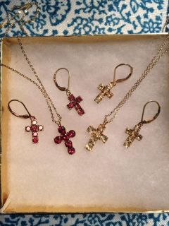 Cross Necklace and earring sets