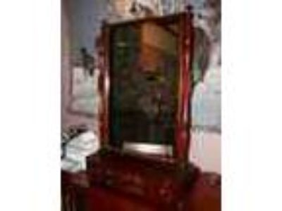 Antique Toilet Mirror With Drawers Mahogany