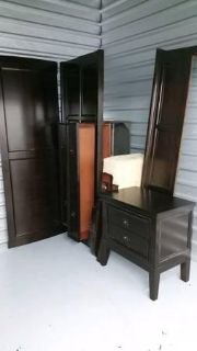 $500, Ashely King size sleigh bed frame and mattress