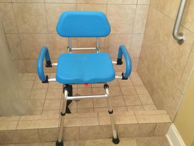 Sliding and Swiveling Shower Chair